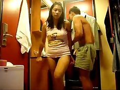 asian beauty cumswapping couple