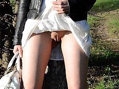 Allie Rae Rebecca in The Beauties Crush scene in which she panties upskirt