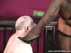 Black mistress bursting and igniting on slave private