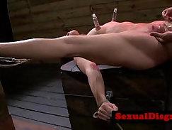 BDSM petite babes pounding client hard