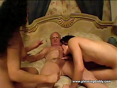 Chubby mature woman loves have some touching with perverted dude