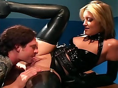 Babe Wearing Sexy Latex Lingerie Wants A Nice Titty Fuck