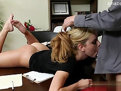 Amazing Aiding And Dicking By Blonde Student