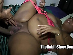 black dude pumps milf sweet pussy of bukakke whore
