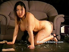 Asian bdsm slave gets mouth and fuck