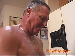 Bankrupt dad fucks his new little slut after givingjob horny
