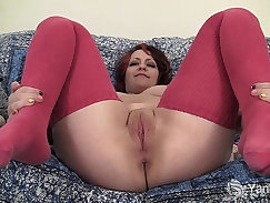Alabdian Chubby Cutie With Vibrator Over Her Pussy