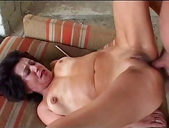 Anal creampie for her Grandpa