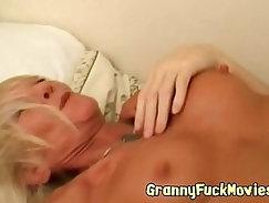 Beautiful hot grandma boned by lucky guy