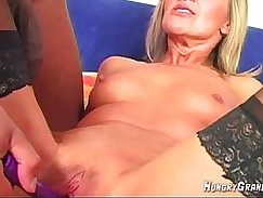 Amateur blonde fingering her tight pussy