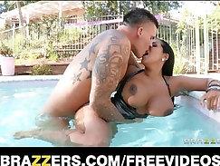 Big Natural Boob Latina in porn shop