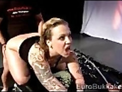 blonde with luxury tattoos please to be rammed in different positions by dicks