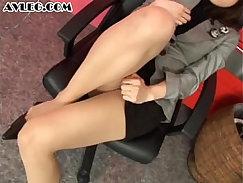 Asian foot fetish babes in stockings