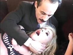 Attractive blondie in lingerie Danie Blaze fucks Johnny Sins in office
