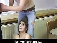 Blonde Whore Gets Spanked For Showing Off