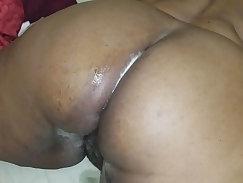 Cum on chubby maids ass after a rimjob