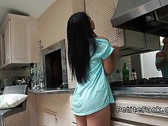 Asian petite panty teasing hottie