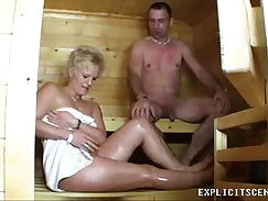 Creampie from a euro milf pounded