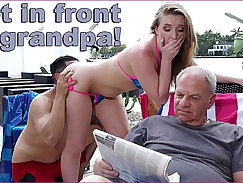 Briana fucked by grandpa so he could rip her from behind