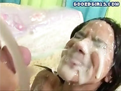 Brutal rough orgy and gagged girl painful extreme facial