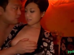 Cute asian sucks cock and get doggystyle