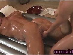 Back Window Massage - Several Cum Drips