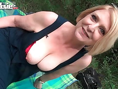 Asian Mature Housewife Fucked Outdoors