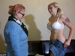 Couple have some young lesbian sex with their friend