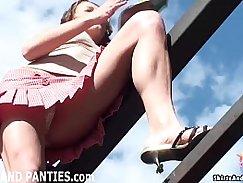 Flashing of puffy panties