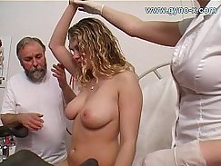 Busty mistress sucks young dick for a massage