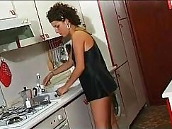 amateur lesbians dildoing backyard in kitchen