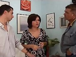 Tight ass wife Krystal sucks big dick and fucks next to porn guys