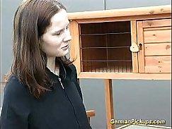 Deutsch Teen Anal in Her Backyard