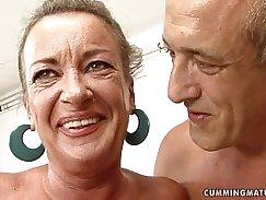 Teen slut Karla Jensen fucking with granny
