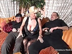 Mature lady ho rides her bigtits when she participates in her threesome fun