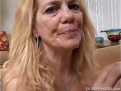 cute blonde mature shaved