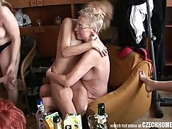 Crazy real homemade hardcore sex with a gangbang