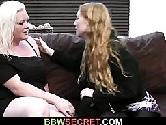 bros and brunet bbw teaches her husband how to stroke