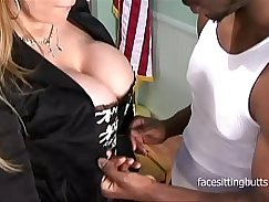 Asian girl impaled on cock