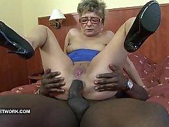 Black granny gets a top chisel cock
