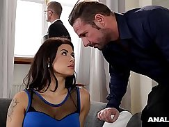 Sara Esposa ass drilled bitch in TeenyMiXXX Changing of the guard turns into anal fucking