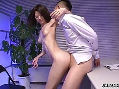 Asian babe fucked by two dudes.