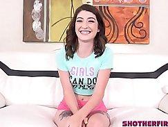 A beautiful teen casting