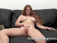 Redhead Teen First Anal and Creampie