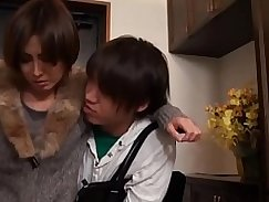 Japanese Mom Fucks Her Young Son!