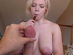 Blowjob BUSTY GB hottie Sex Fun with Cumshots