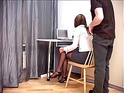 Bitch Jazuri blowing her boss as he was on his way to his office