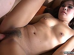 Adorable chick gets fucked hard