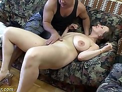 Alexis Texas for busty german MILF sucking his big dick