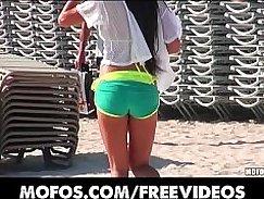 Amateur with Beach Bikini Whores On Live TV!